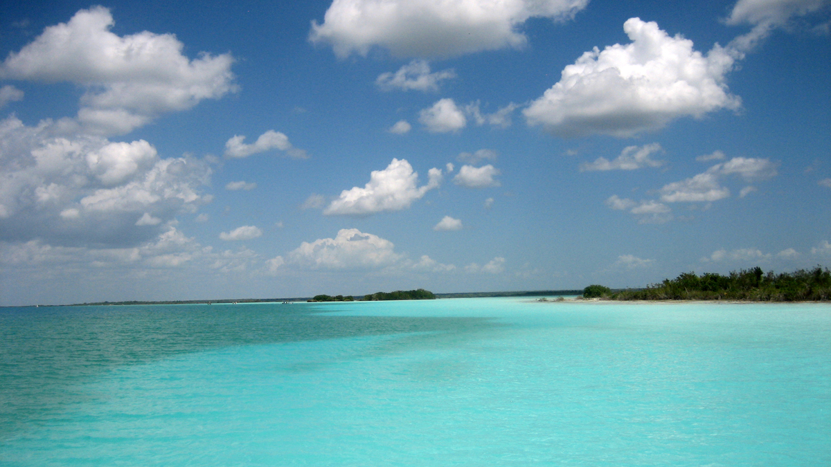Bacalar - shades of blue