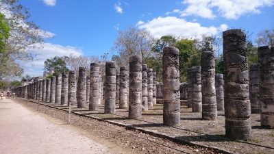Chichen Itza The Plaza of a Thousand Columns